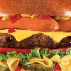 Carls Jr Hardees Hot Dog Chip Burger